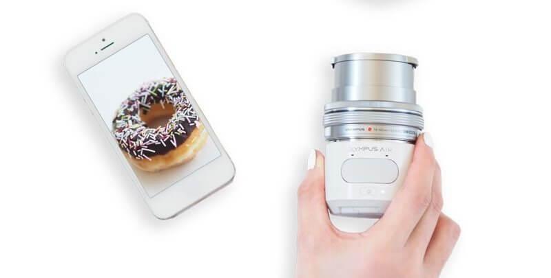 150205olympusair01 - Novo gadget da Olympus transforma smartphone em câmera profissional