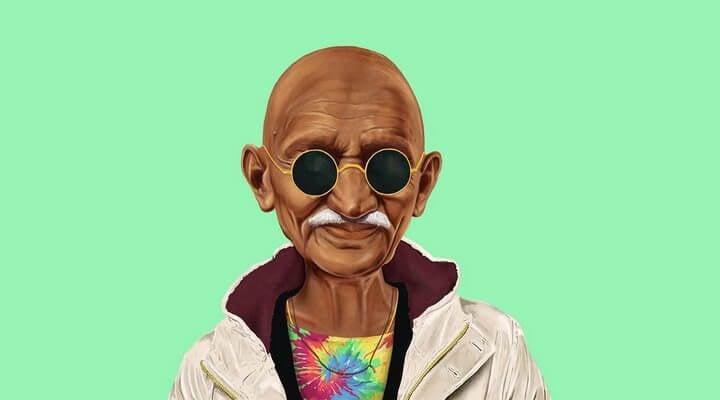 ghandi hipster 2 - Filhos de Gandhi? Executivos do Silicon Valley se comparam a líderes dos movimentos civis