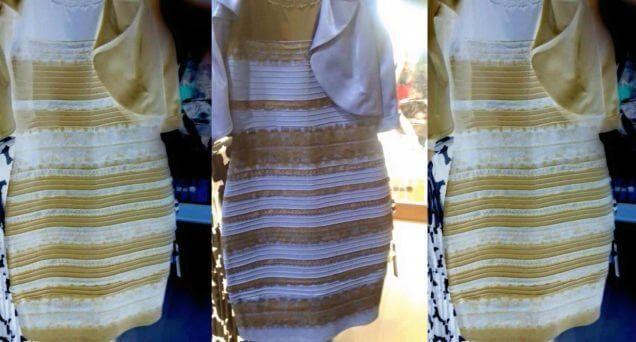 Vestido q viralizou azul e preto