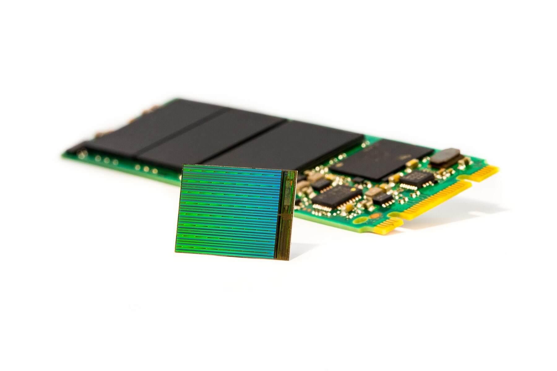 3d nand die with m2 ssd - Corrida espacial: Intel e Toshiba anunciam tecnologias para SSD de 10TB