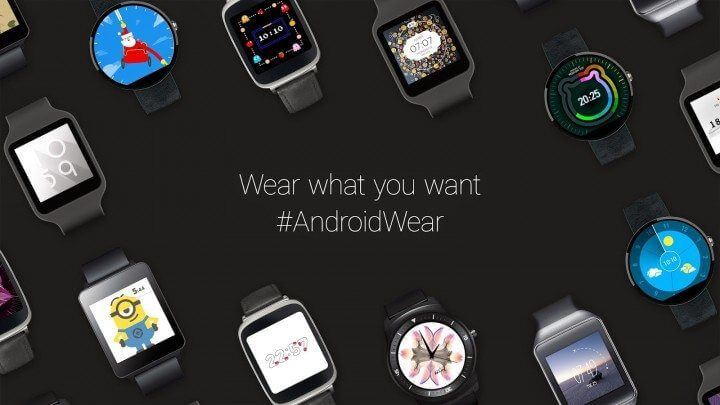 android wear watch faces official 720x405 - Android Wear terá suporte a Wi-Fi e controle por gestos