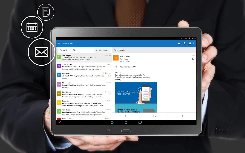 microsoftoutlookpreviewforandroid - Outlook para iOS e Android ganha integração com Facebook, Evernote e Wunderlist