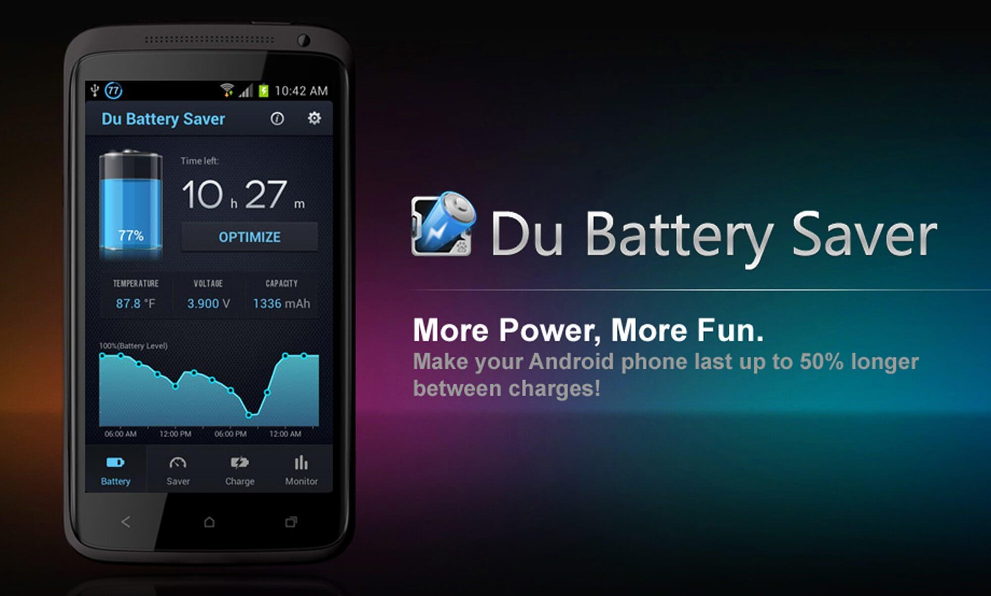 pic du battery saver - DU Battery Saver ajuda a gerenciar a bateria do seu dispositivo