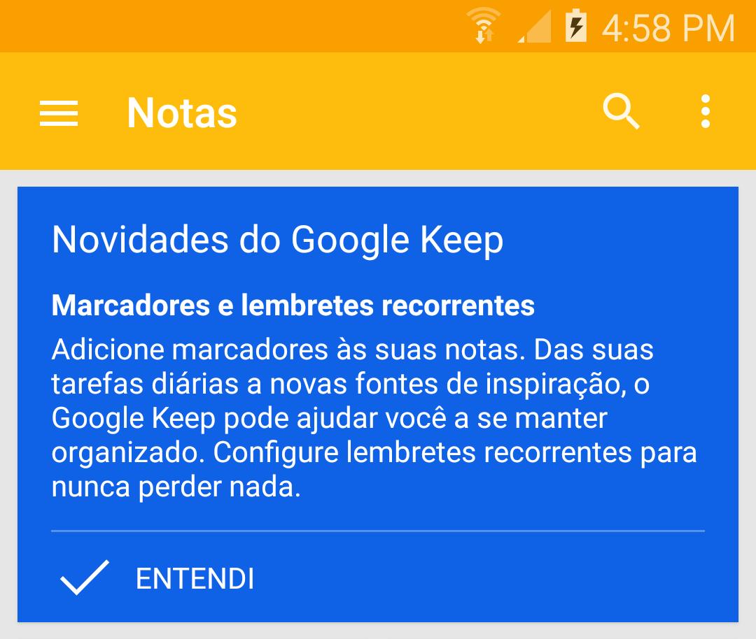 screenshot 2015 03 26 16 58 04 - Google Keep  v3.1 agora com lembretes recorrentes e Marcadores