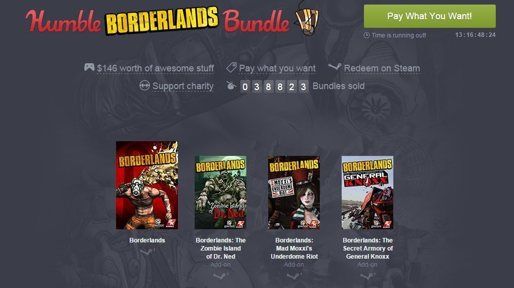 borderlands humble bundle - Humble Borderlands Bundle: quer pagar quanto?