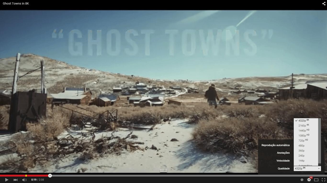 Ghost towns video em 8k