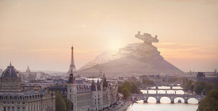 star wars franca - Veja como seria a queda de naves de Star Wars nas principais cidades do mundo