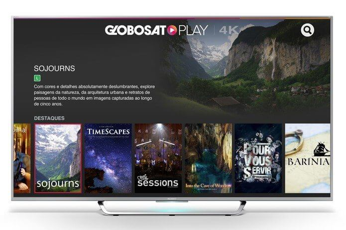 Globosat Play 4K Conteudo TV Sony Androir TV