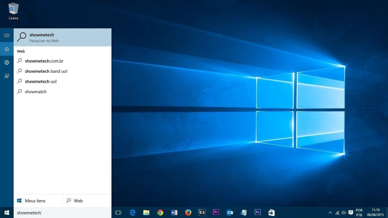 capa tutorial windows 10 - Tutorial: Como ocultar a barra de pesquisa e desativar resultados online no Windows 10