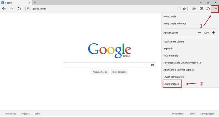 Tutorial adicionar a busca do google no windows 10 Microsoft Edge Passo 2 (Reprodução/Julian Leno)