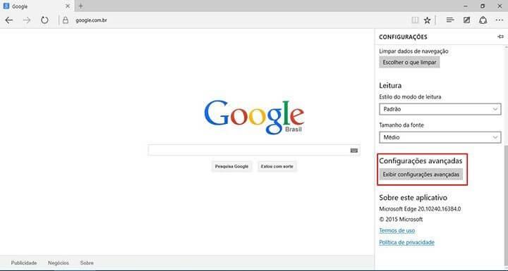 Tutorial adicionar a busca do google no windows 10 Microsoft Edge Passo 3 (Reprodução/Julian Leno)