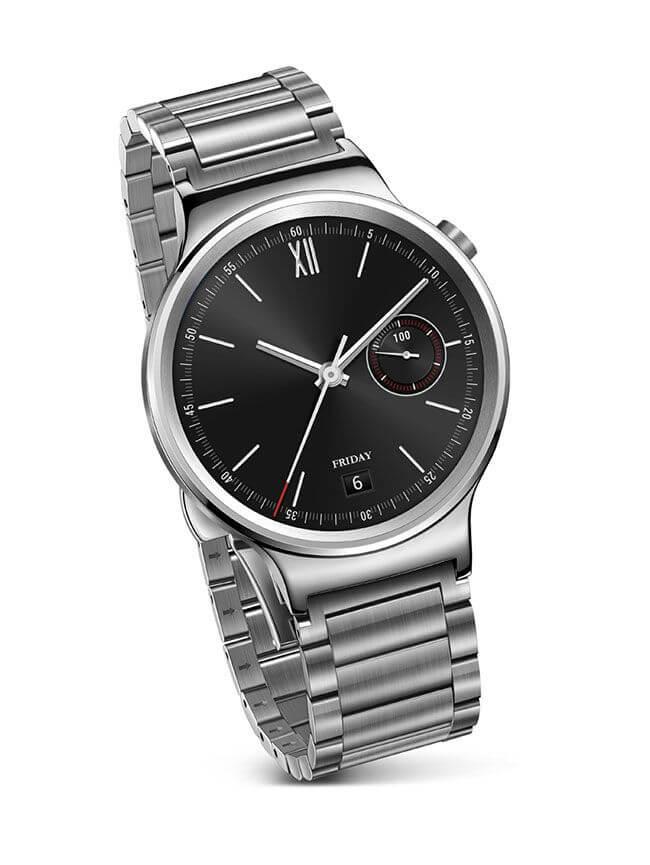 Este é o Huawei Watch, com Android Wear