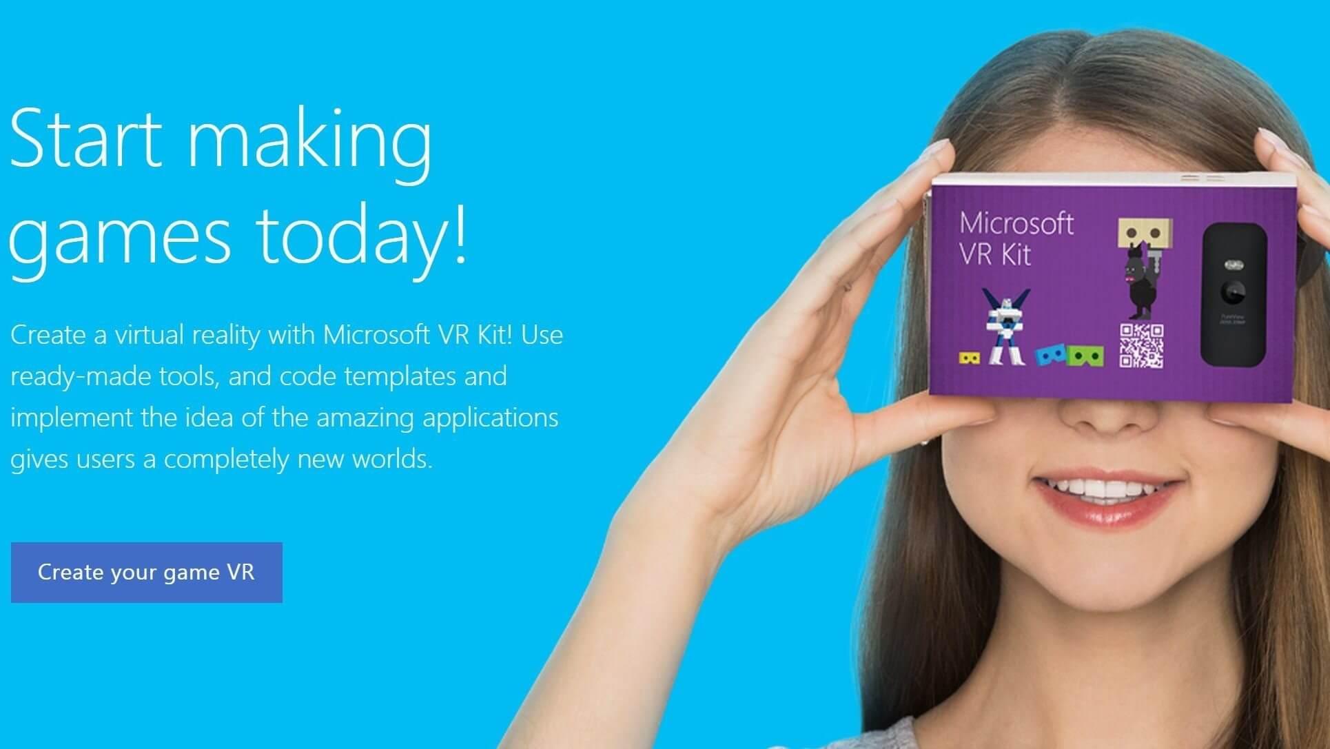 vr kit - Microsoft cria óculos de realidade virtual para competir com Google Cardboard