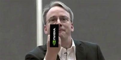 Linus torvalds, criador do linux, enviando mensagem mal educada para a nvidia