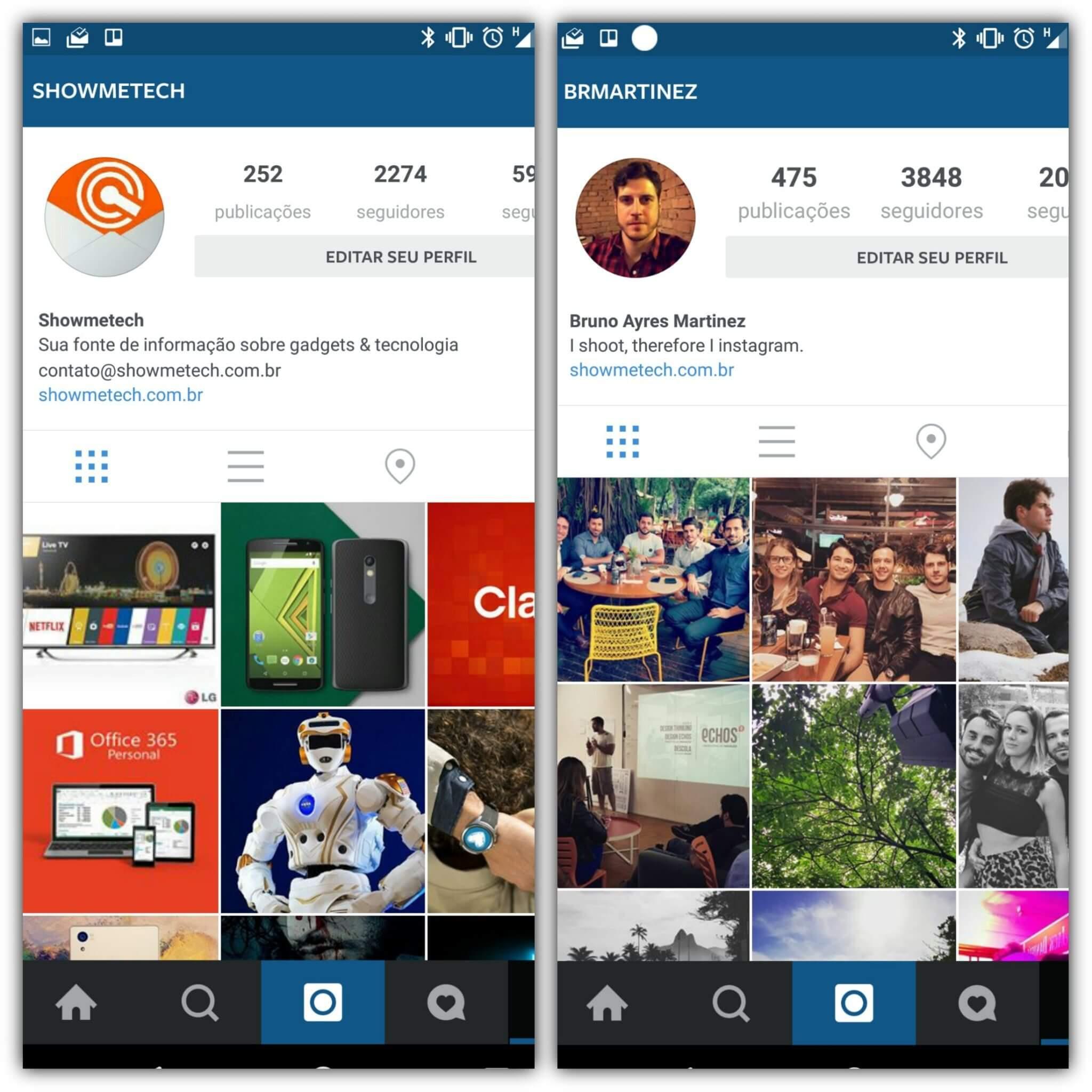 Instagram multiplas contas