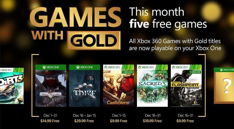 games with gold dezembro 2015 - Games with Gold: 5 jogos grátis para dezembro 2015