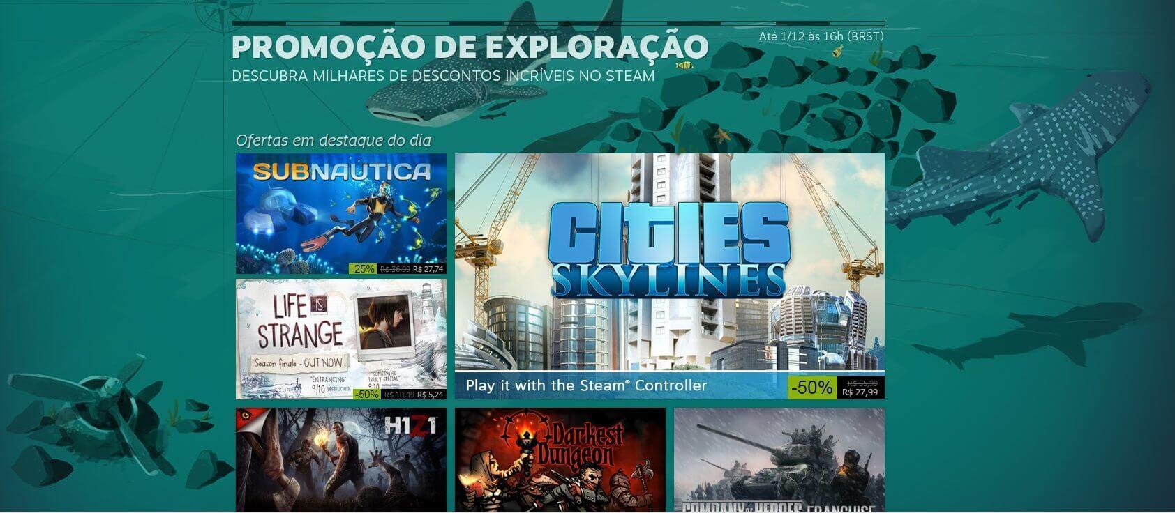 promoo steam - Steam: jogos em promoção até 1º de dezembro