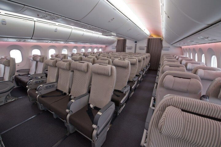 JAL 787 LN 33 Interior Photography