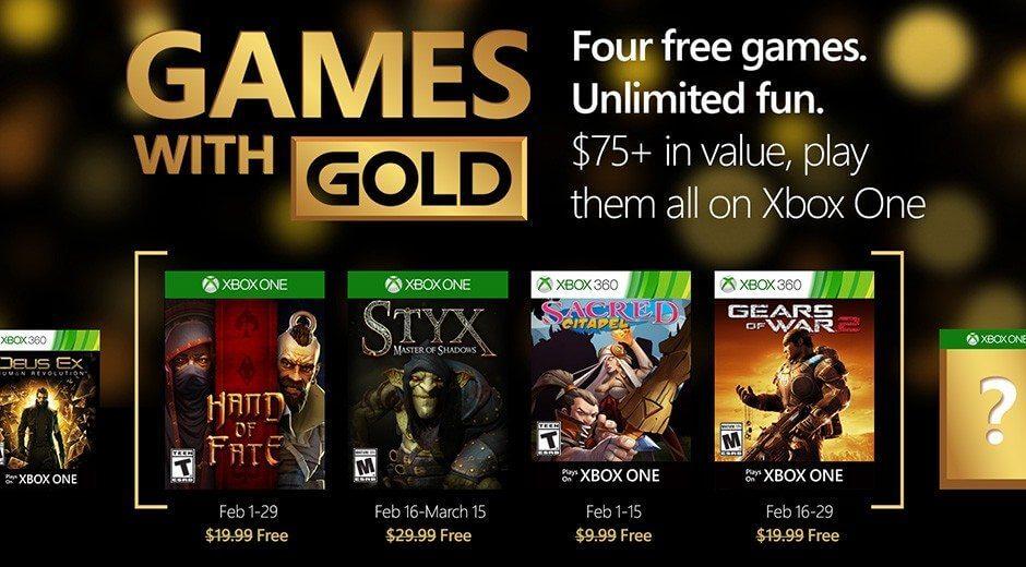 jogos grtis fevereiro 2016 xbox live gold february 2016 - Games with Gold: jogos grátis para fevereiro de 2016