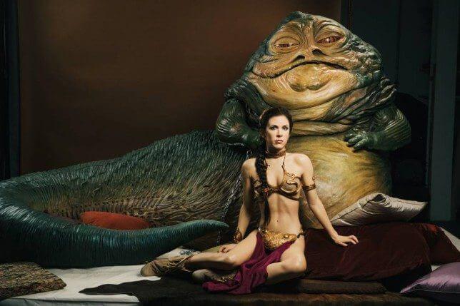 leia jabba slave 2 - Jabba The Hutt aparecerá em Star Wars Battlefront