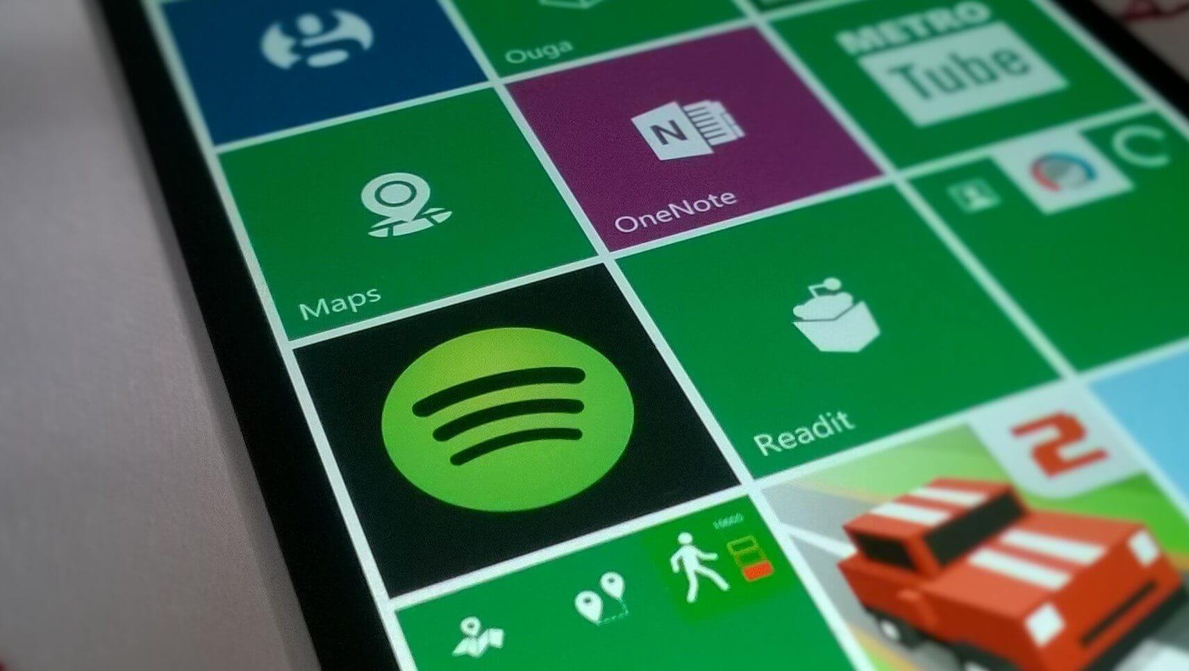 Spotify para Windows Phone - Live Tile