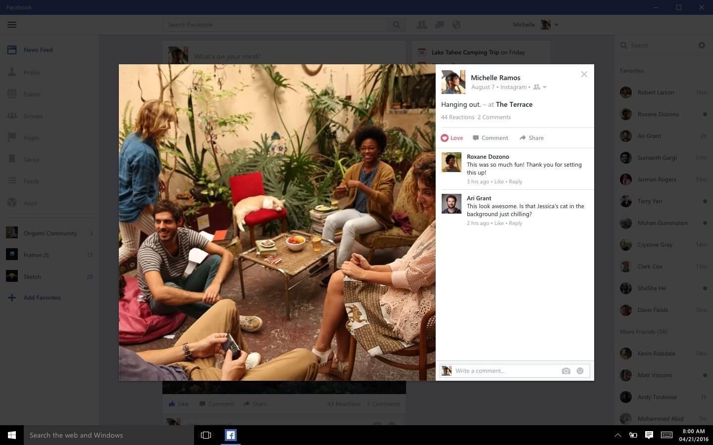 facebook - Novos aplicativos do Facebook e Messenger chegam ao Windows 10
