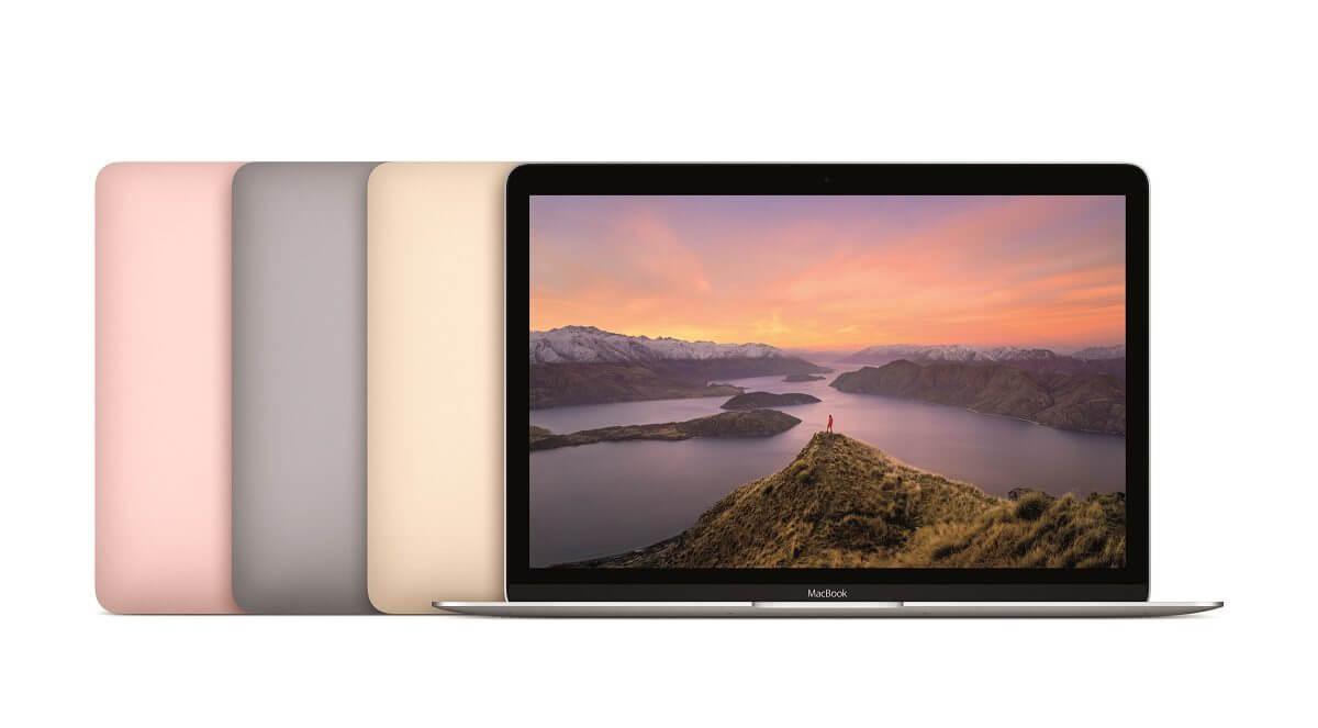 """mb12 pt pf family print - Apple atualiza MacBook 12"""" com melhorias de performance e modelo rosa"""
