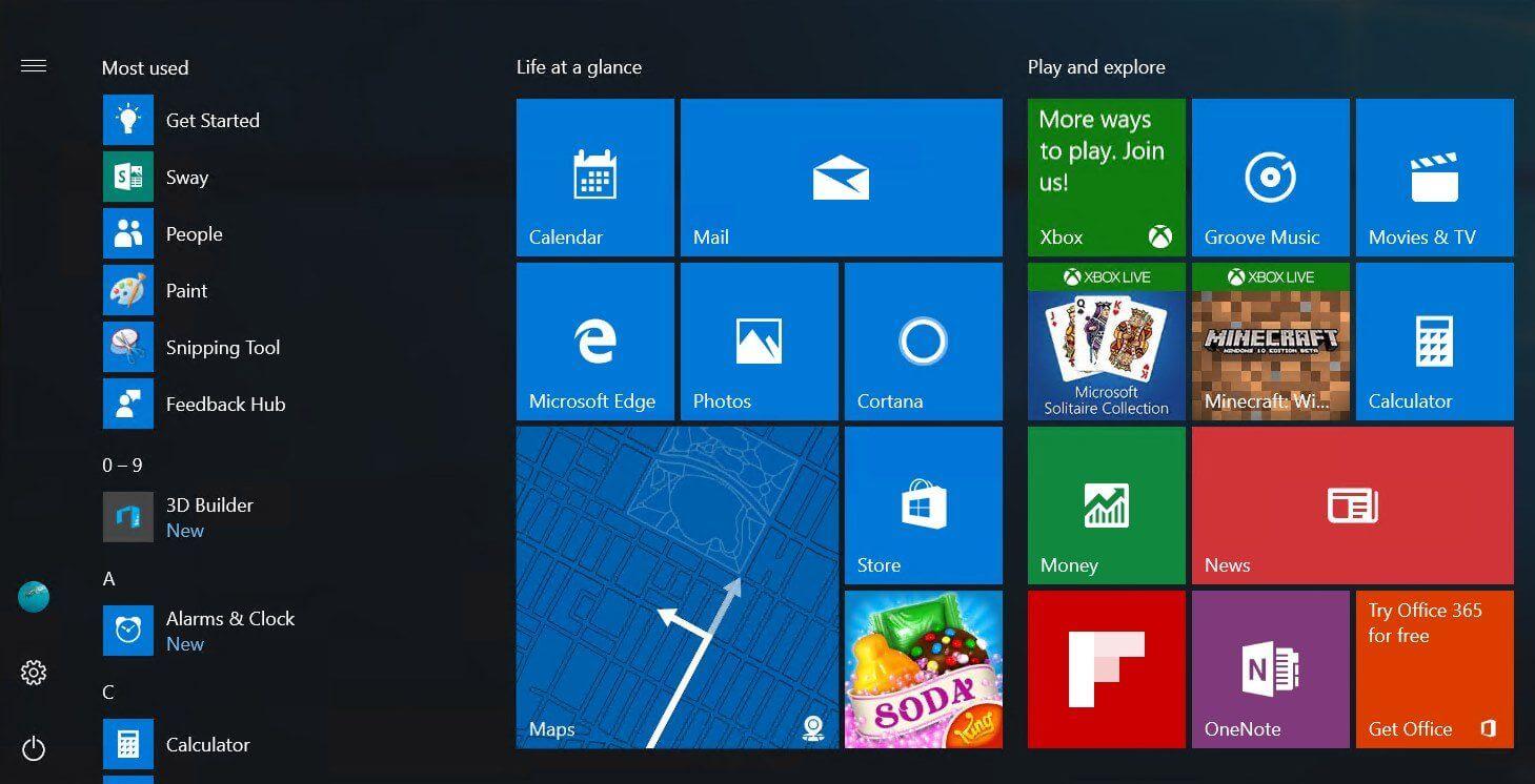 """Novo Iniciar do Windows 10 teria menu """"hambúrguer"""" e lista de aplicativos expandida"""
