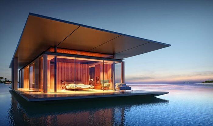 casa na agua - Engenheiros criaram plataformas que flutuam estáveis mesmo em mar agitado