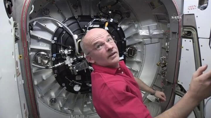 Astronauta Jeff Williams na ISS