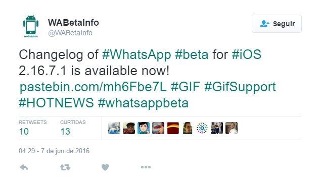 screenshot 1 - WhatsApp deve ganhar suporte a GIFs animados em breve
