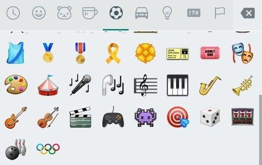 Android emoji de anéis olímpicos