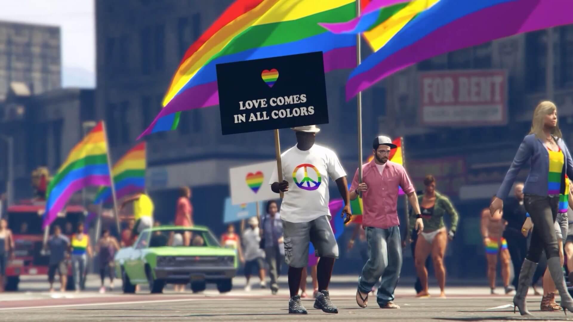 screenshot 11 - Los Santos Pride: mod do GTA V traz a parada do orgulho LGBT ao game