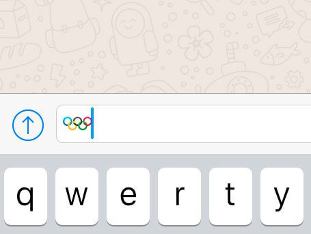 iOS emoji anéis olímpicos