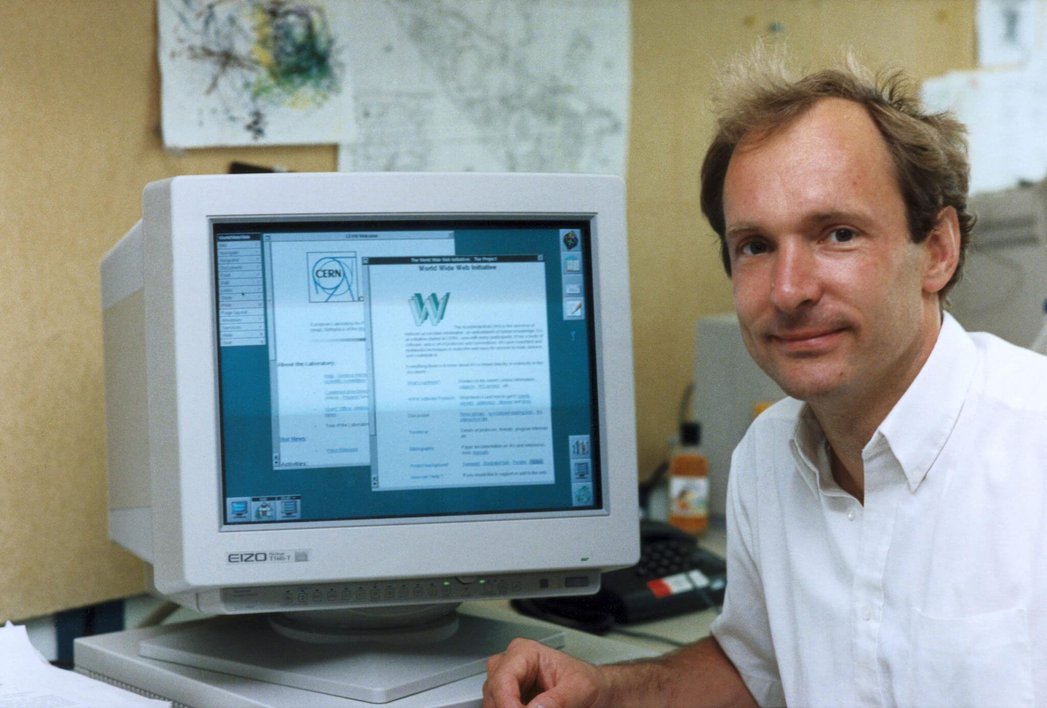 Tim Berners Lee first internet