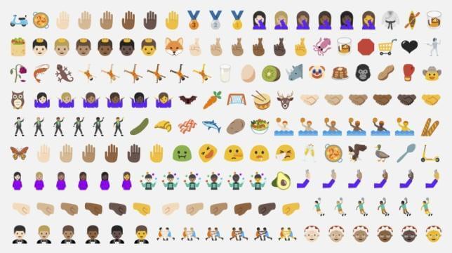 Lista de emojis do android 7. 0 nougat