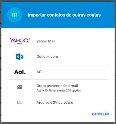 exportar-selecionar-hotmail