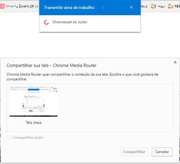 passo final transmitir chromecast - Tutorial: Google Cast foi integrado ao Chrome; aprenda como utilizar