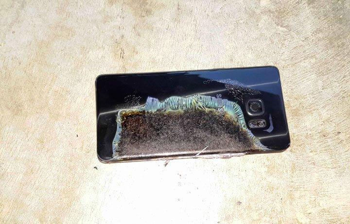 Galaxy Note 7 Explosivo