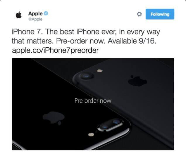 Tweet da apple