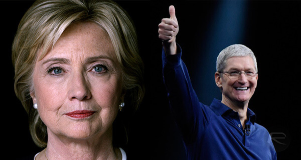 tim-cook-hillary-clinton vice presidente Estados Unidos