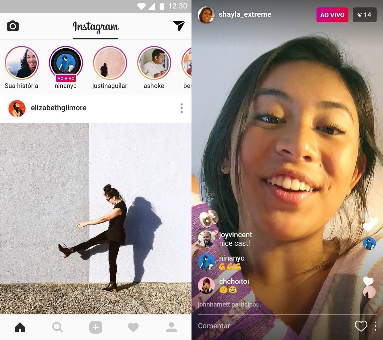 Instagram ao vivo