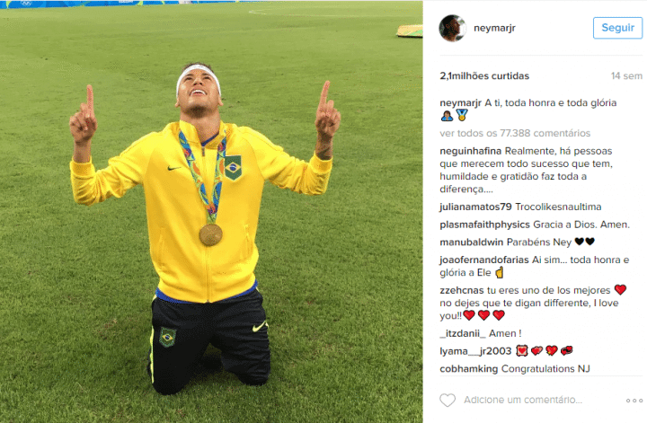 Neymar Jr Instagram 720x471 - Veja a Retrospectiva 2016 do Instagram