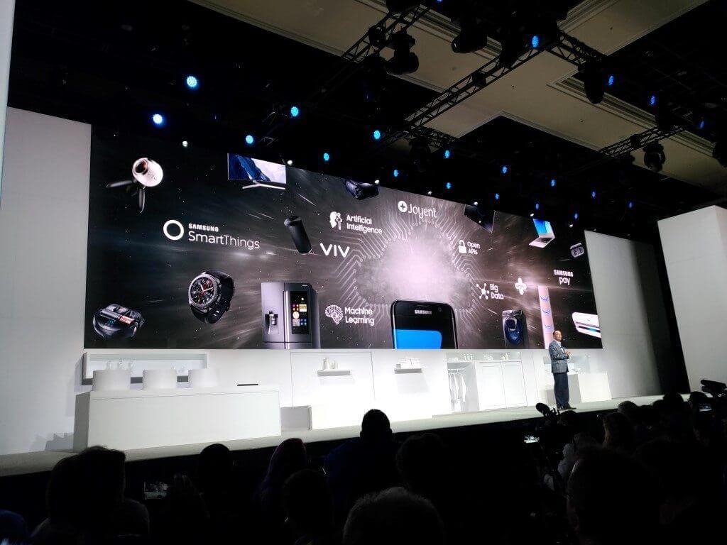 Samsung anuncia seu portfólio de produtos na ces 2017. Em uma coletiva realizada no mandaley hotel, las vegas, a samsung anunciou todas as suas novidades para a ces 2017.