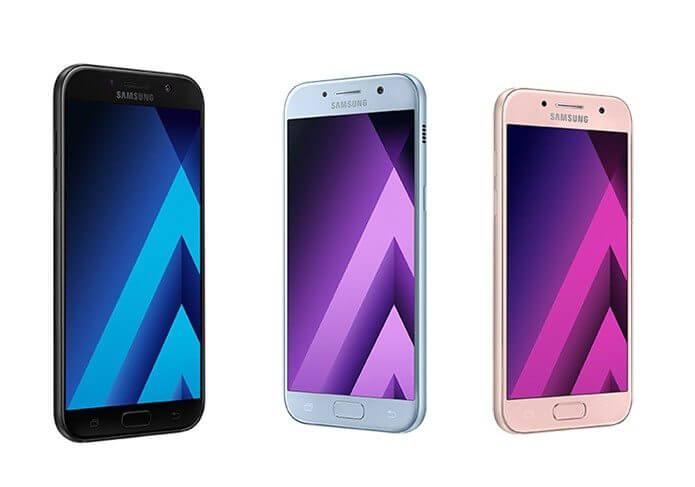 Galaxy a: a linha com os modelos a3, a5 e a7 foi atualizada para 2017