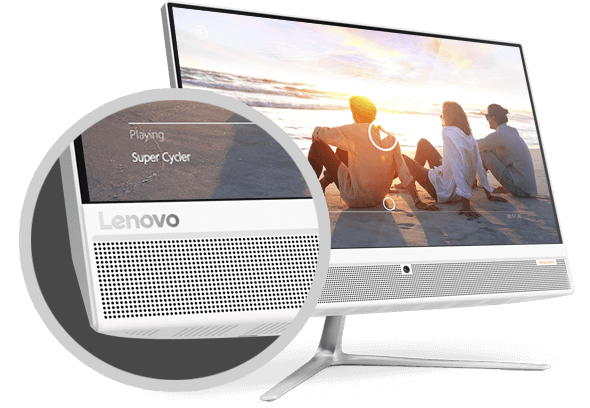 lenovo ideacentre aio 510 22 speakers - Lenovo anuncia novo all-in-one no Brasil com tela Full HD sem bordas