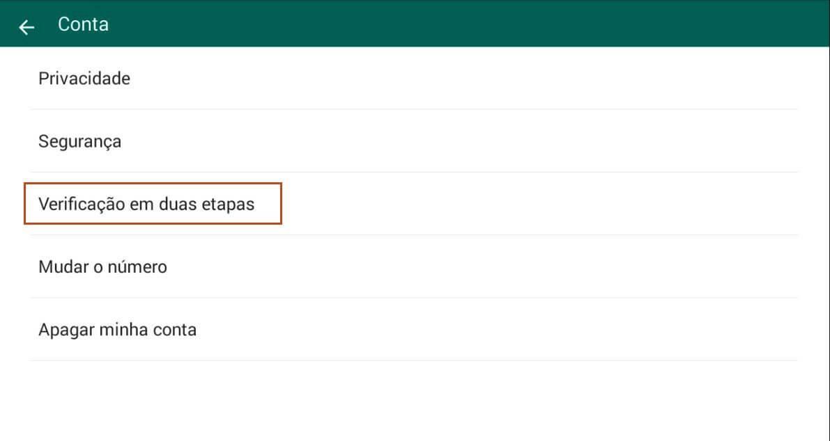 Conta - Dica: como ativar a verificação em duas etapas do WhatsApp