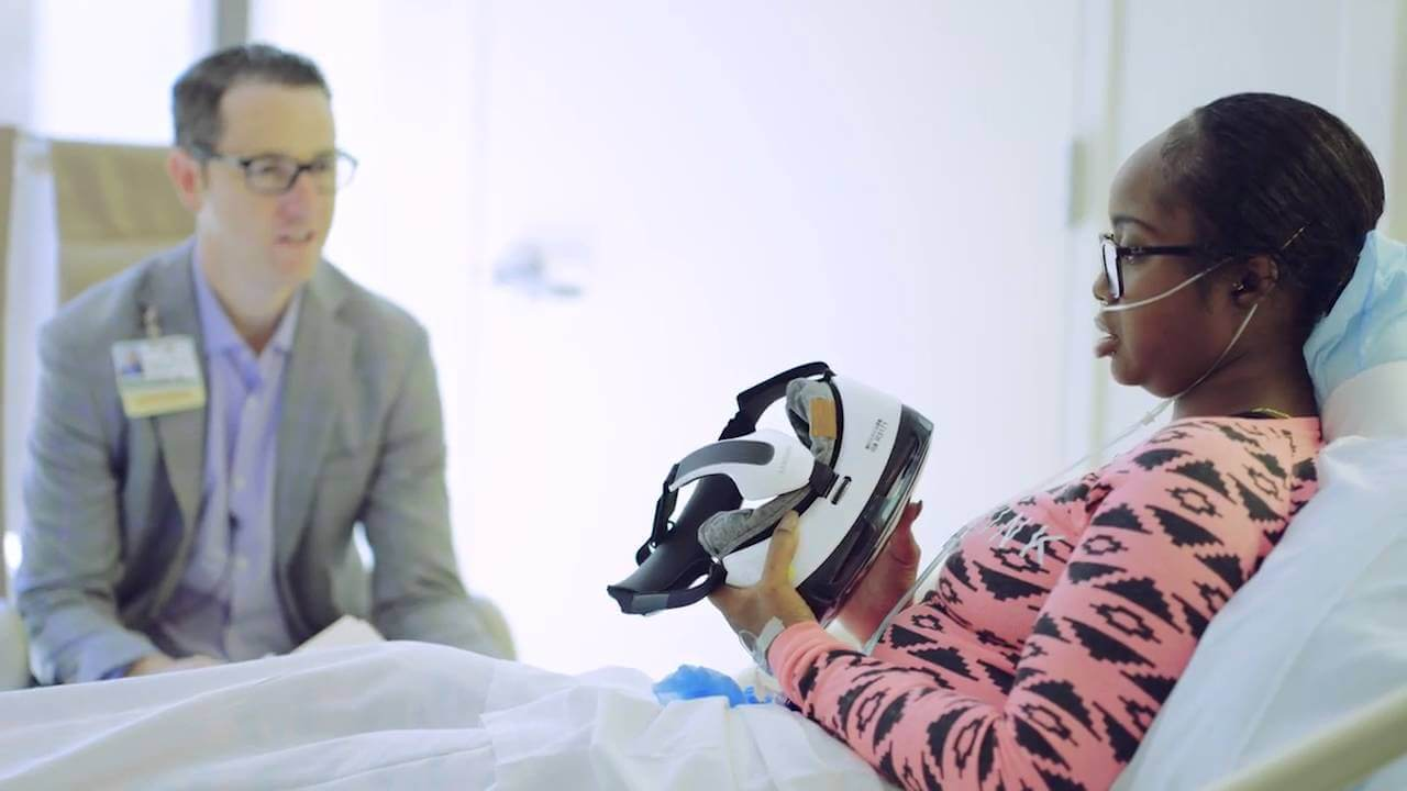 Samsung realidade virtual hospital launching people befearless gear vr