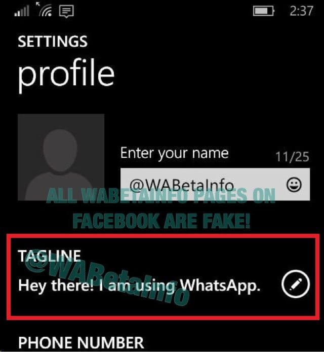 WhatsApp tagline - Após polêmica, status em texto do WhatsApp vai voltar