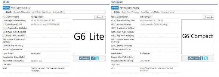 """Lg registra nomes """"g6 compact"""", """"g6 lite"""", entre outros. A lg registrou os nomes """"g6 compact"""" e """"g6 lite"""", o que indica que a """"família g6"""" está mais próxima do que imaginamos."""